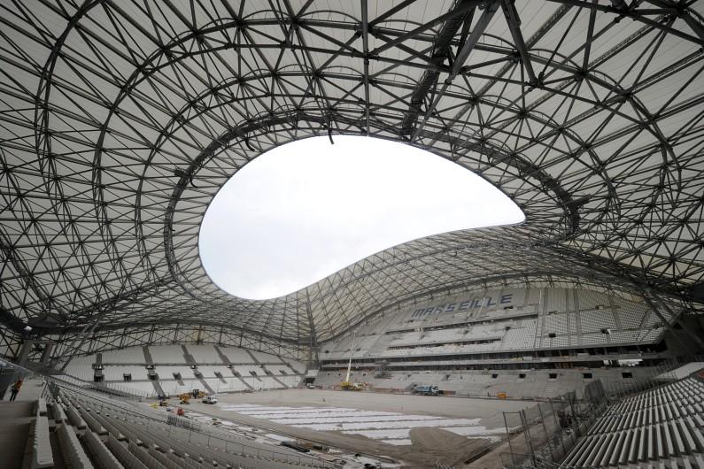 Le Stade Vélodrome de Marseille en travaux, le 4 juillet 2014.