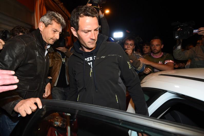 Jérôme Kerviel lors de son arrestation, le 18 mai 2014 à Menton.