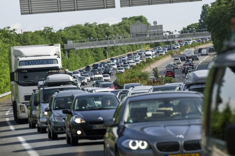 Des embouteillages près de Paris, en juillet 2013 (illustration).