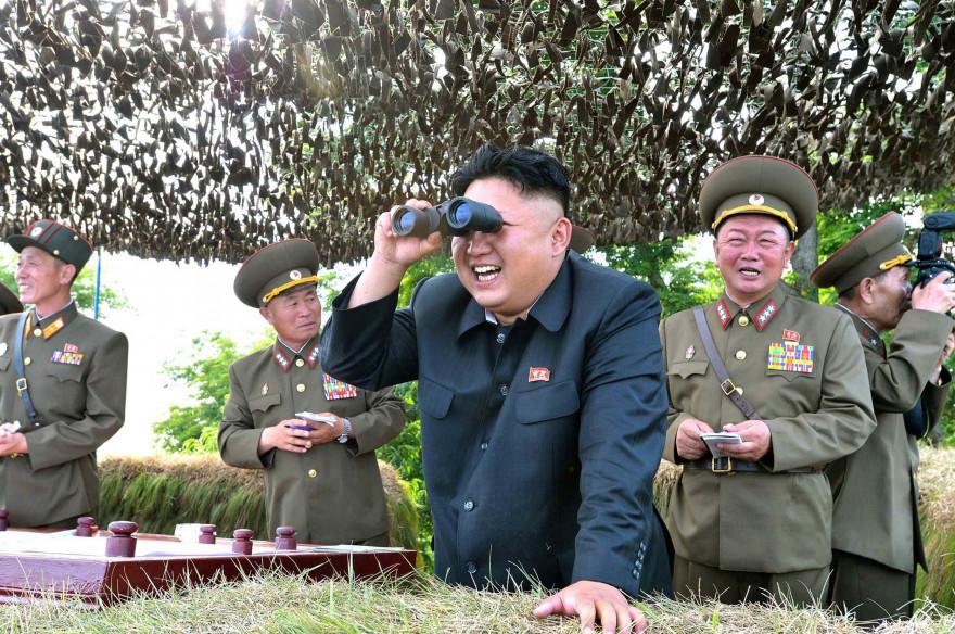 Kim Jong-Un sur la côte est de la Corée du Nord, (illustration)