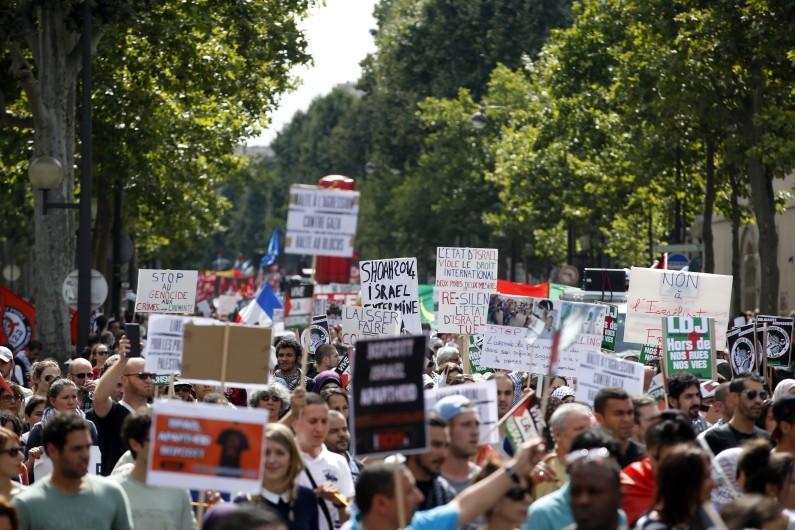 La manifestation propalestinienne à Paris, le 2 août