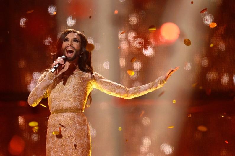 La gagnante de l'Eurovision 2014, Conchita Wurst.