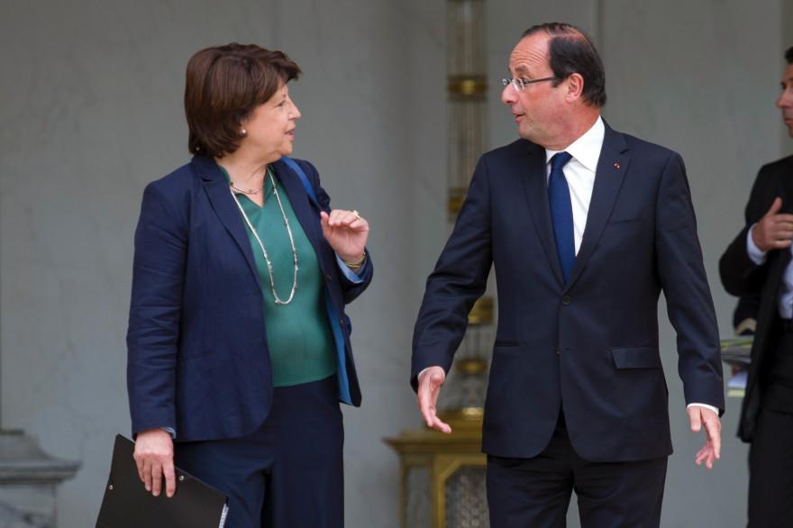 Martine Aubry et François Hollande, le 6 juin 2012 à l'Élysée.