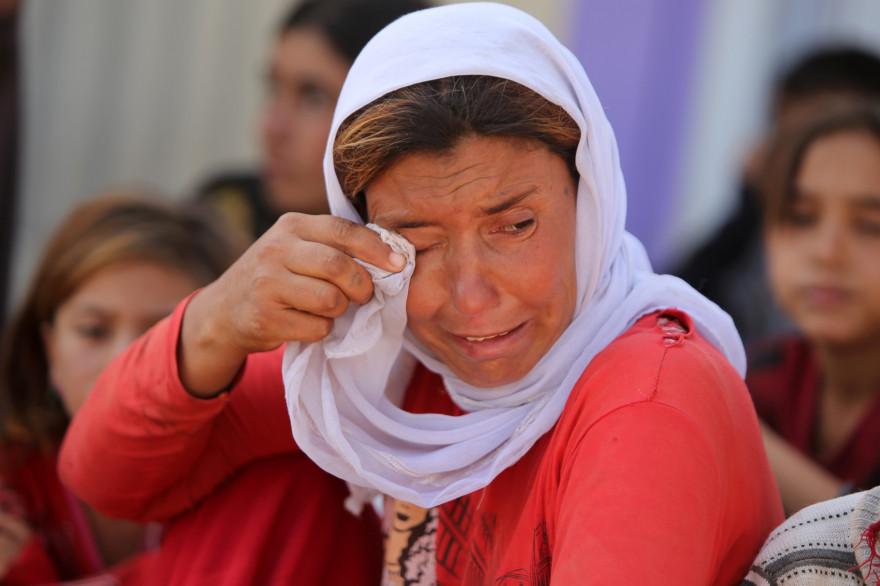 Une femme yazidi dans un camp de réfugiés au Kurdistan irakien, le 13 août 2014.