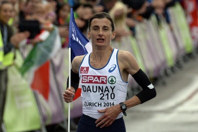 La championne d'Europe du marathon Christelle Daunay à Zurich, le 16 août 2014.