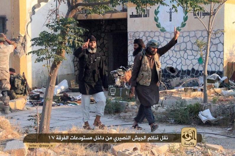 Les jihadistes de l'Etat islamique dans la ville de Raqqa en Syrie en juillet 2014 (archives).