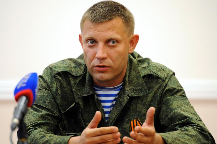 """Alexandre Zakhartchenko, Premier ministre autoproclamé de la """"République populaire de Donetsk"""" en Ukraine, le 7 août 2014."""
