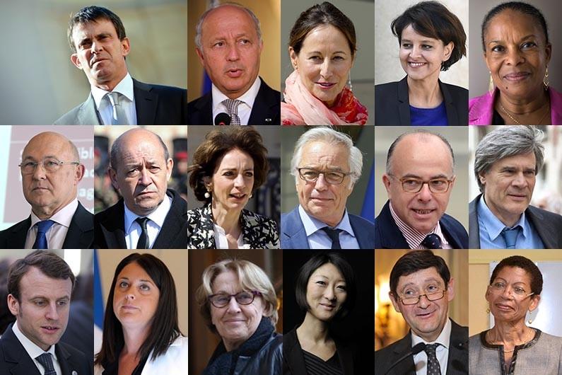 Le trombinoscope du gouvernement Valls 2