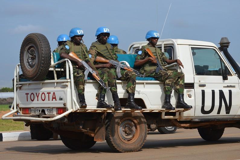 Des soldats de l'ONU au Soudan du Sud, le 12 août 2014.