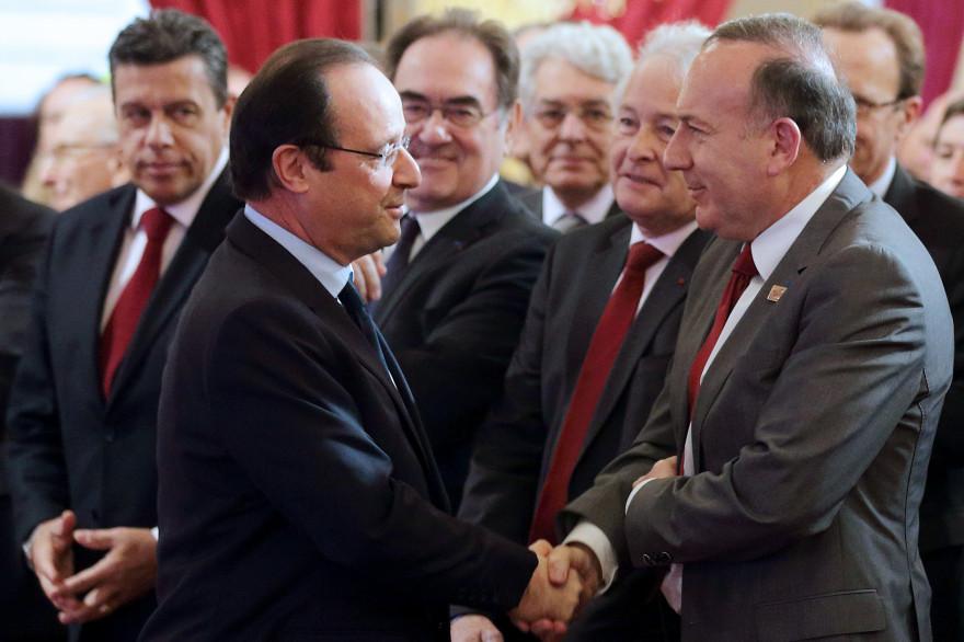 François Hollande et Pierre Gattaz le 21 janvier 2014 (Archive)