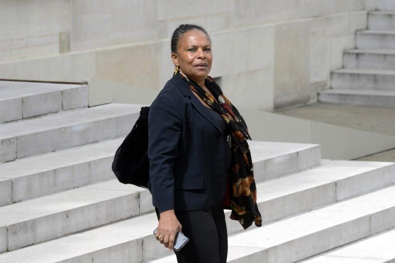 Christiane Taubira à l'Élysée le 7 mai 2014 (archives)