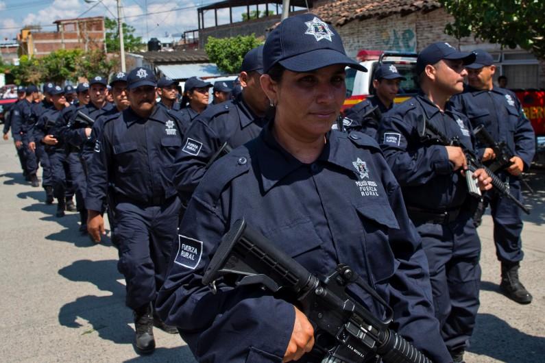 Des policiers de l'état du Michoacan au Mexique, le 10 mai 2014. (archives)