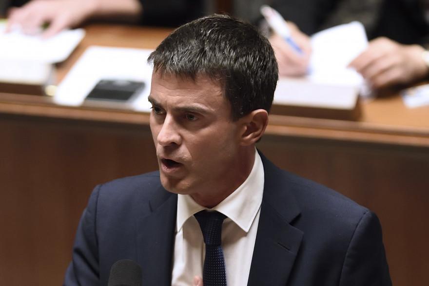 Manuel Valls répond aux critiques lors de son discours de politique générale, le 16 septembre 2014