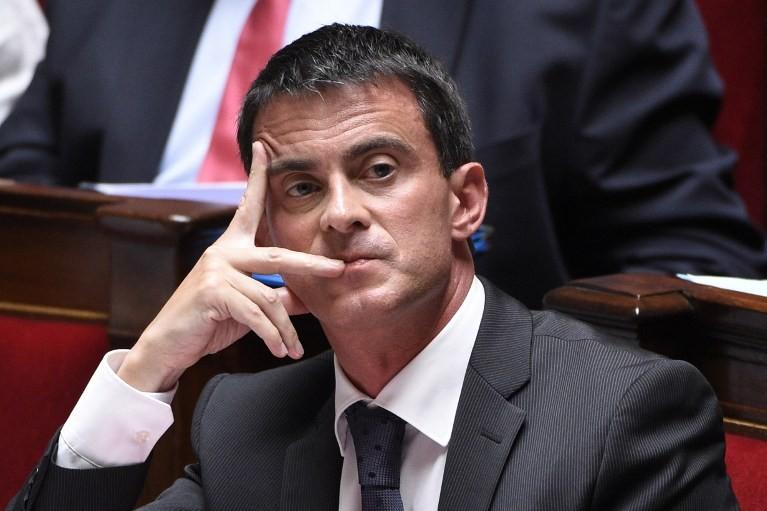 Manuel Valls, ici à l'Assemblée nationale le 10 septembre 2014, a demandé aux pilotes d'Air France de mettre fin au mouvement de grève