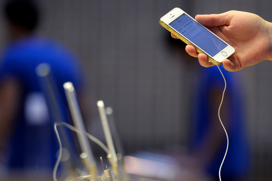 L'iPhone 5S dans un Apple Store de Londres. (illustration)