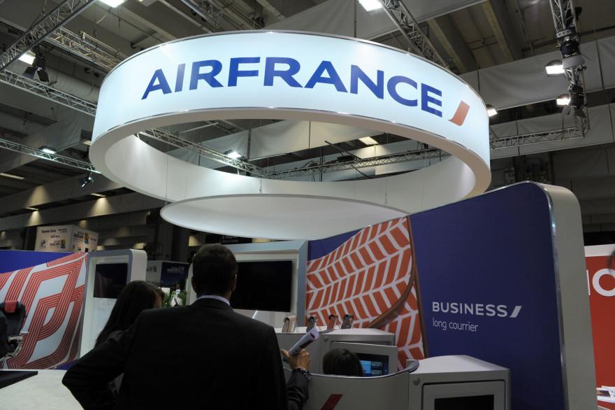 Un comptoir Air France au Salon du tourisme professionnel, le 24 septembre 2014 à Paris