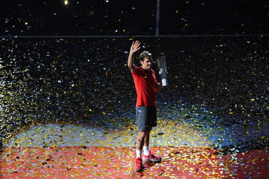 Le Suisse Roger Federer à Shanghai le 12 octobre 2014