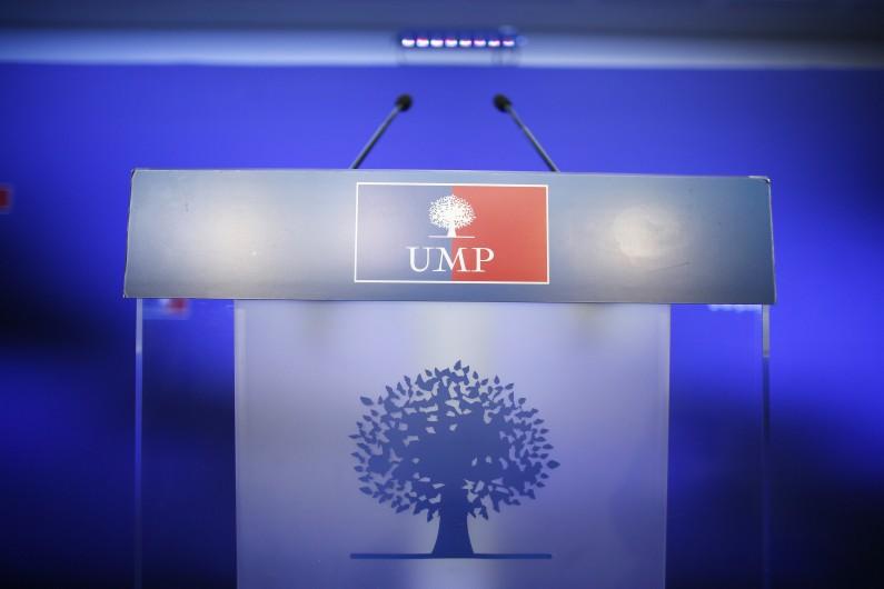 Un podium de l'UMP (Illustration)