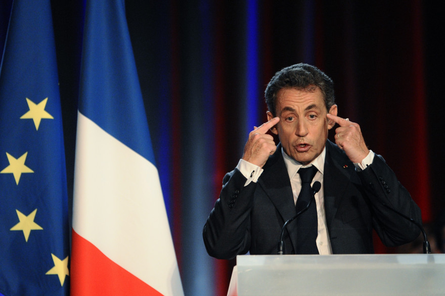 Pendant près d'une heure et demie, Nicolas Sarkozy a également multiplié les attaques contre le gouvernement, le lundi 3 novembre 2014 à Nancy.