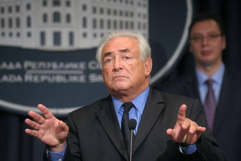 Dominique Strauss-Kahn, le 17 septembre 2013, à Belgrade. (archives)