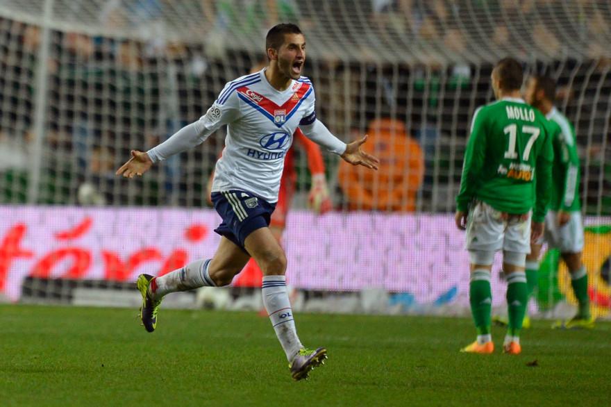 L'Olympique Lyonnais s'était imposé à l'ultime seconde lors du dernier derby à Saint-Étienne, le 10 novembre 2013