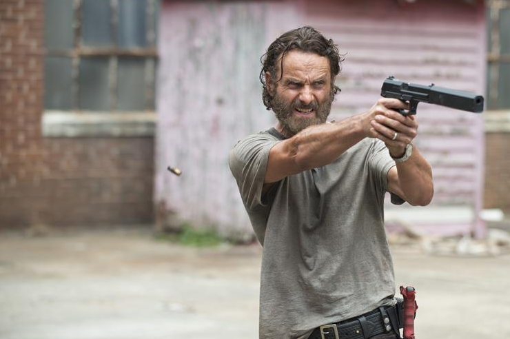 "Rick (Andrew Lincoln) dans la saison 5 de ""The Walking Dead"""