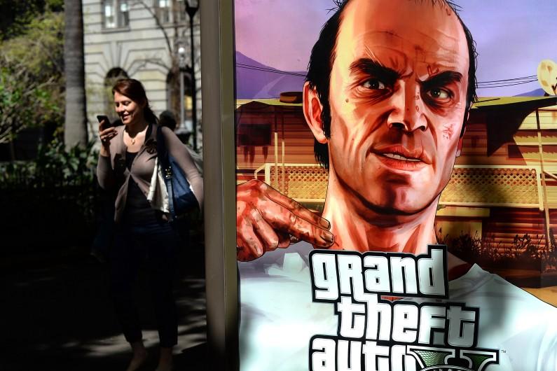 Une affiche du jeu GTA (illustration)