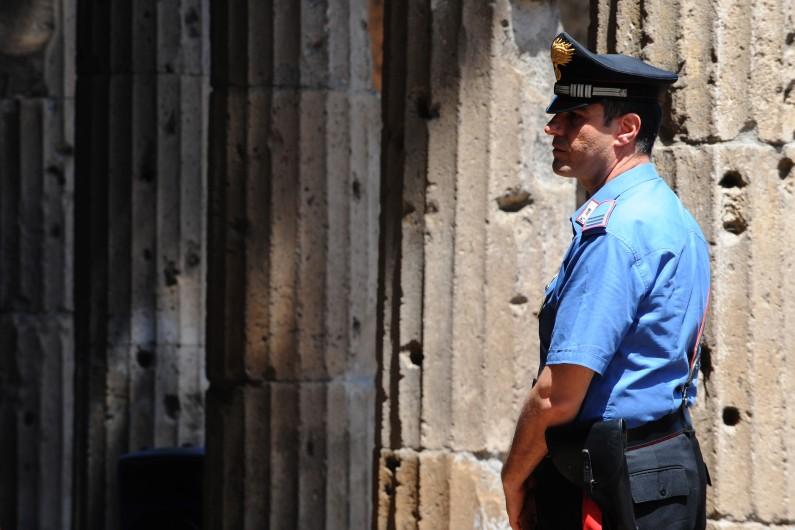 Policier italien, à Pompéi, le 23 juillet 2013. (archives)