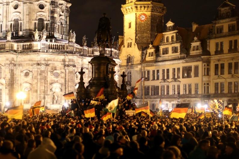 Manifestation anti-islam PEGIDA, à Dresde, le 22 décembre 2014. (archives)