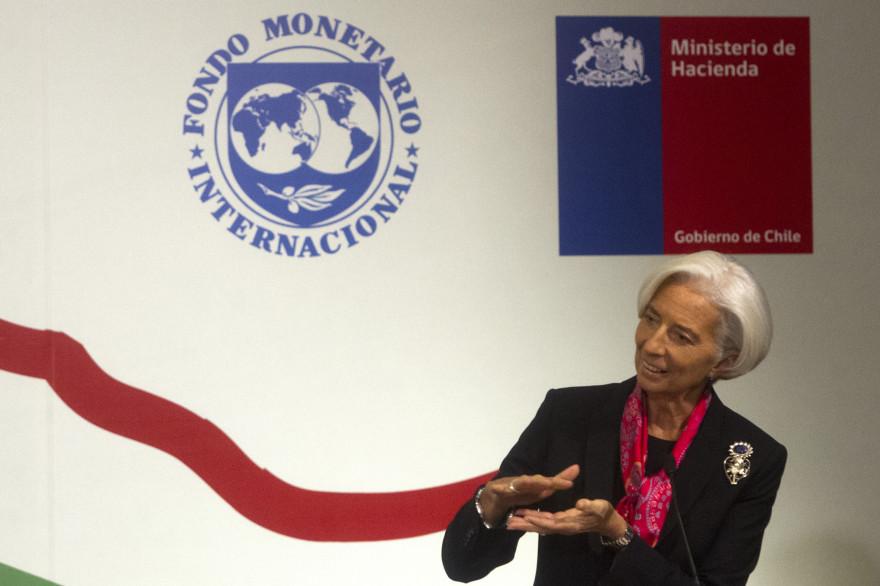 La présidente du Fonds monétaire international, Christine Lagarde, à Santiago du Chili, le 5 décembre 2014.