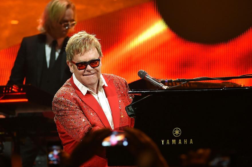 Elton John en concert à New York le 31 décembre