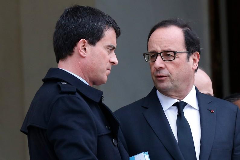 Manuel Valls et François Hollande à l'Elysée, le 10 janvier 2015.