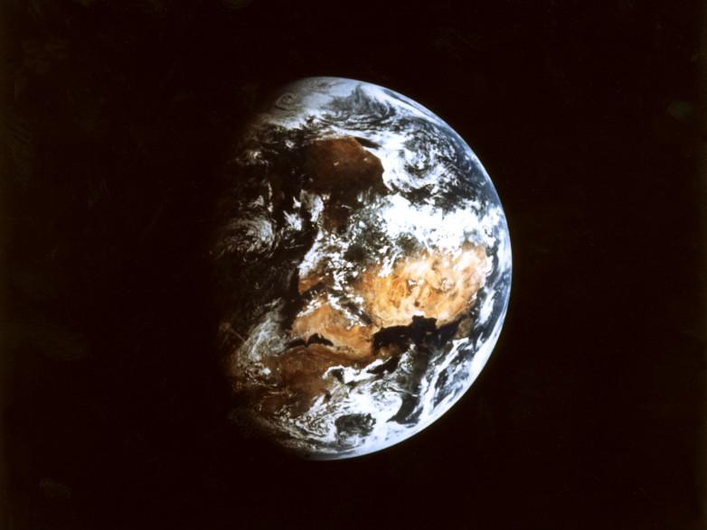 Photo non datée de la terre, prise de l'espace.