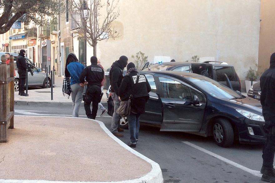 Coup de filet du GIPN le 27 janvier 2015 à Lunel (Hérault)