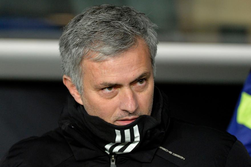 José Mourinho au Parc des Princes le 17 février 2015, lors de la rencontre PSG-Chelsea.