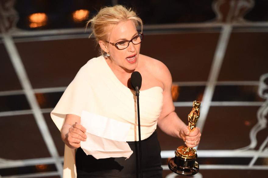 Patricia Arquette lors des Oscars 2015