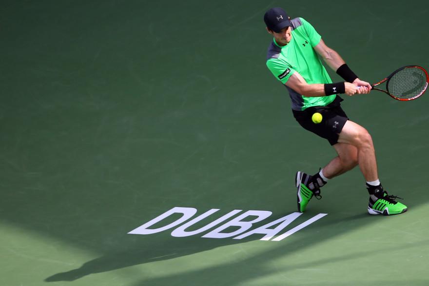 Andy Murray à Dubai le 26 février 2015