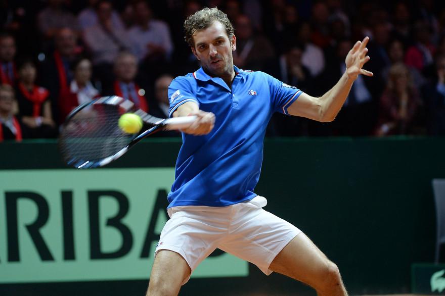 Nicolas Benneteau, avec l'équipe de France de Coupe Davis