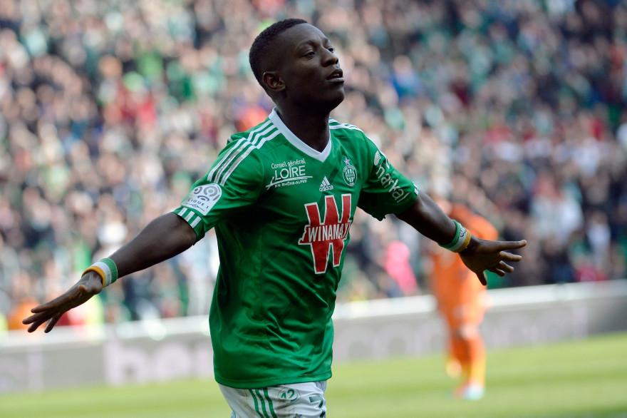 Max-Alain Gradel a inscrit le deuxième but de Saint-Étienne face à Lorient