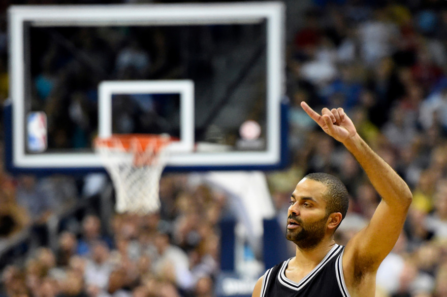Tony Parker à Berlin le 8 octobre 2014.