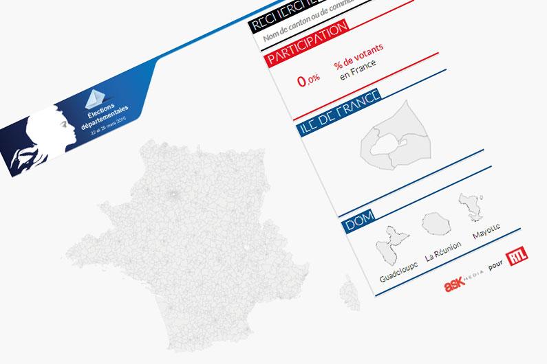 Notre carte des résultats du premier tour des élections départementales 2015