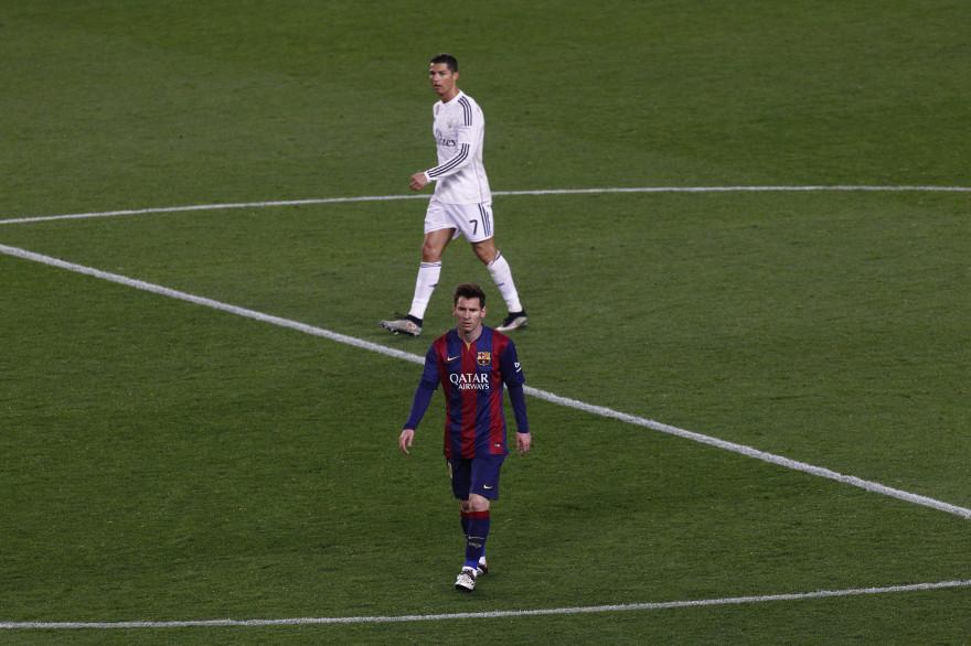 L'Argentin Lionel Messi et le Portugais Cristiano Ronaldo le 22 mars 2015