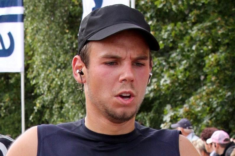 Andreas Lubitz lors d'un marathon en 2009 à Hambourg, en Allemagne.