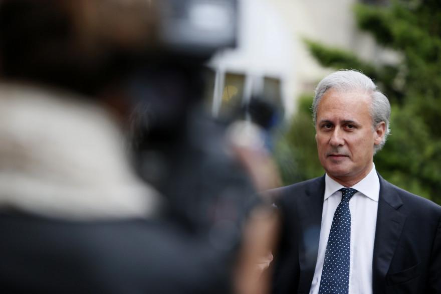 L'ancien secrétaire d'État UMP à la fonction publique, Georges Tron, le 13 juin 2012 à Draveil (Essonne).
