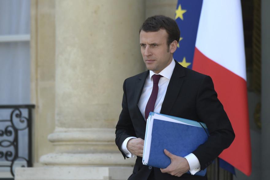 Emmanuel Macron le 8 avril 2015 à l'Élysée
