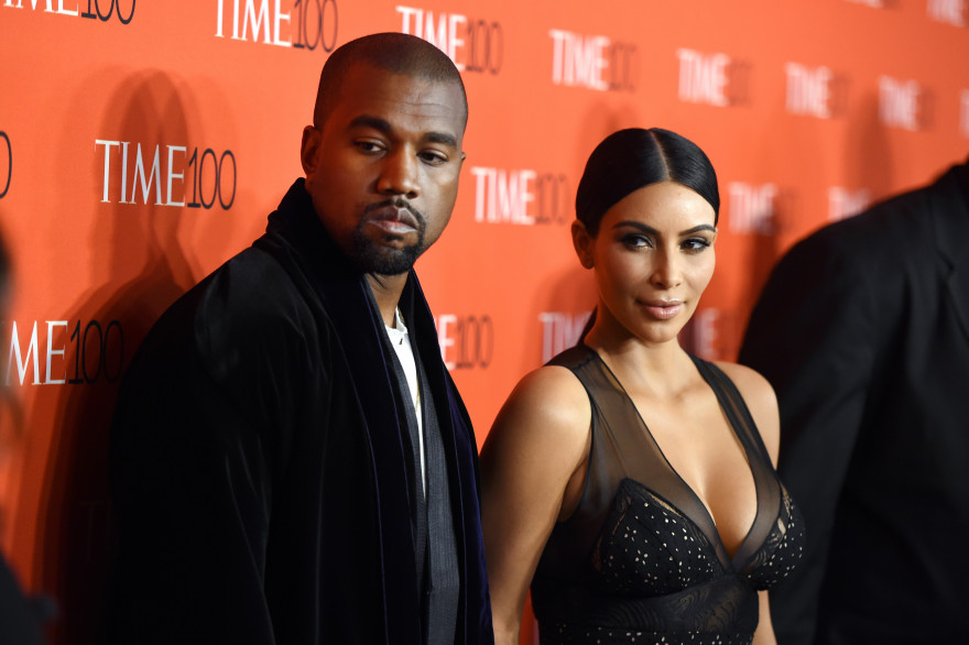 Kim Kardashian et son mari Kanye West le 21 avril 2015 au Gala du Time à New York.