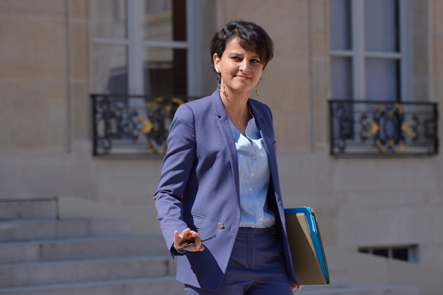 La ministre de l'Éducation nationale Najat Vallaud-Belkacem le 22 avril 2015.