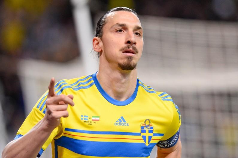 Zlatan Ibrahimovic lors d'un match amical Suède-Iran le 31 mars 2015.