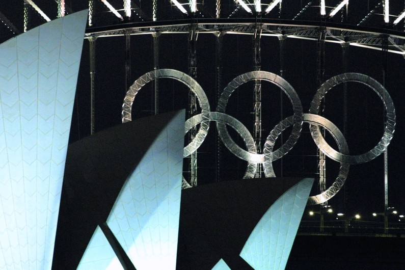 Les anneaux olympiques de Sydney en 2000