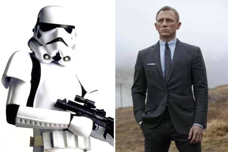 Il sera difficile de deviner si Daniel Craig se cache bien derrière une armure de stormtrooper